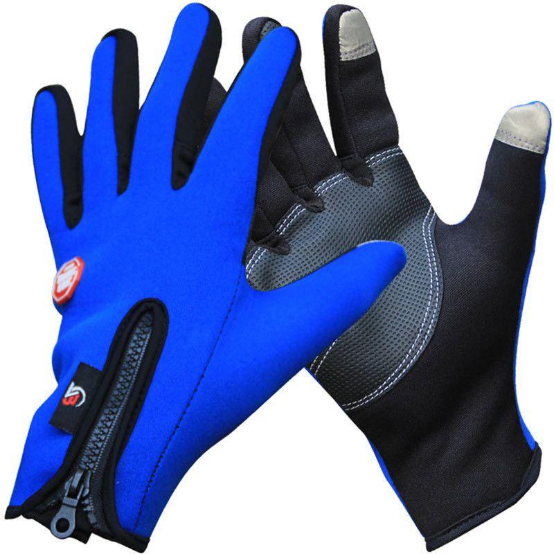 Invierno Moto Térmica Guantes a prueba de Viento Caliente guantes de Ciclismo Dedo Completo al aire libre, Esquí, Senderismo Guante para Los Hombres, Las Mujeres