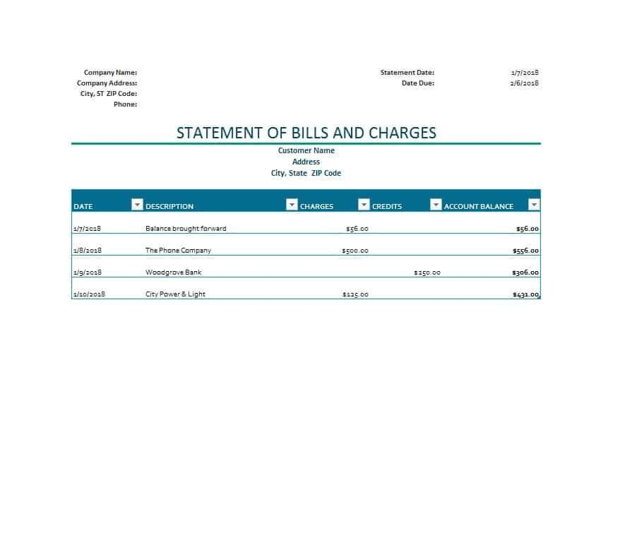 Itemized Billing Statement Template Awesome 40 Billing Statement Templates Medical Legal Itemized Statement Template Templates Invoice Template Word