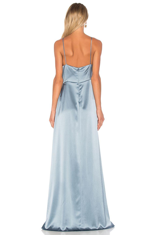 JILL JILL STUART Wrap Gown en Dusty Blue | REVOLVE | Silk ...
