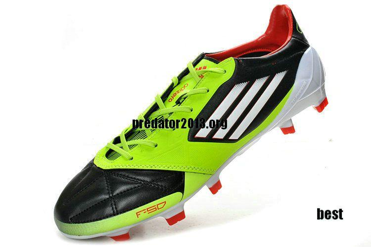 Adidas F50 Adizero 2012 micoach TRX FG Leather Football Boots - High Energy Green Electricity
