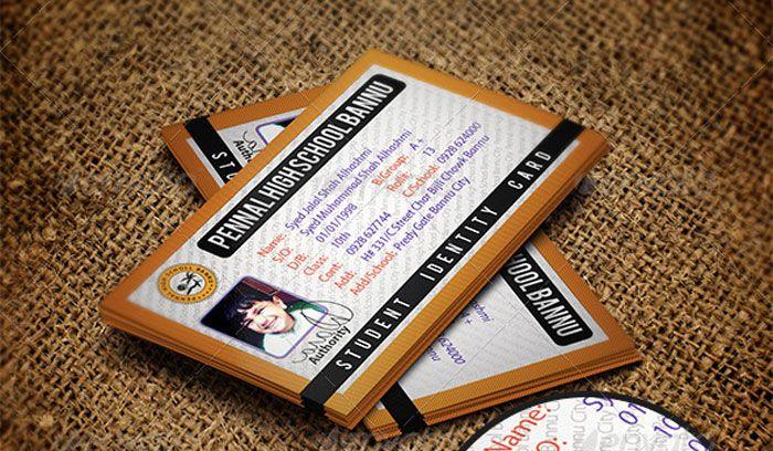 Student-ID-Card-Design-Template ID Badge Pinterest Card - id card template