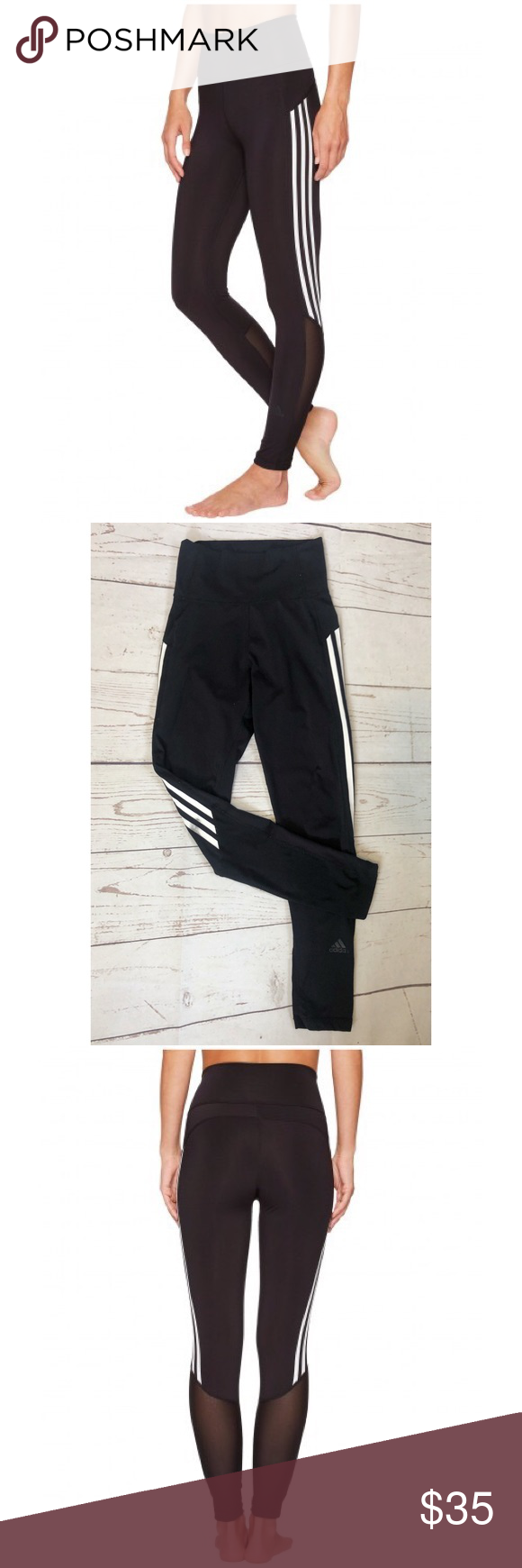 c5ecdbdee01b61 ADIDAS Believe 3 stripe leggings Adidas Believe This 3-Stripes Training  Tights are constructed with