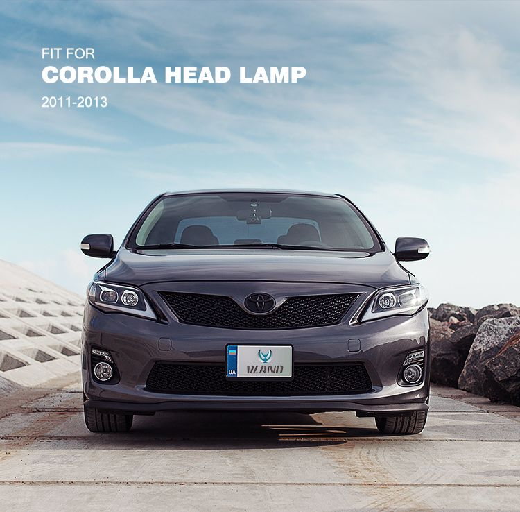 Vland Toyota Corolla Head Lamp 2011 2013 Led Corolla Headlight This Item Plug And Play Very Convenient H7 Type Bulb Can Fit Low Beam We Bring Our Own High B Auto