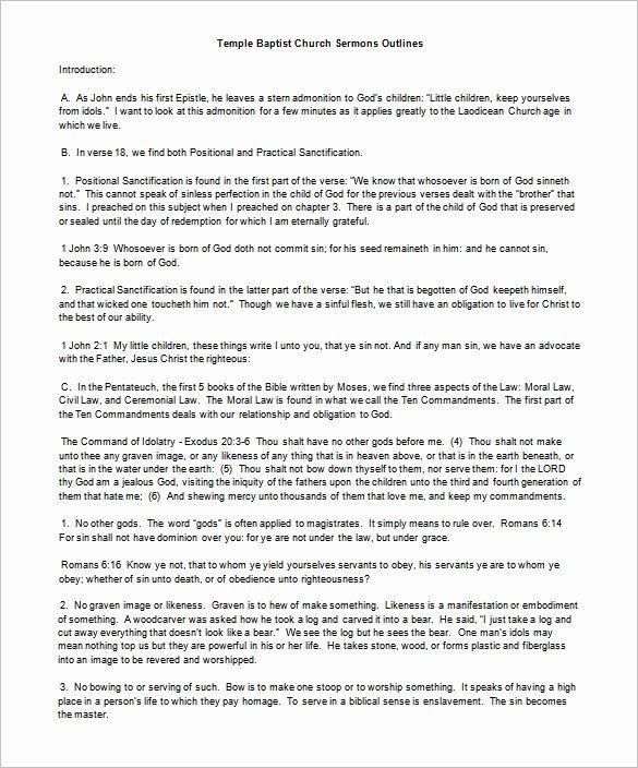 Sermon Template Microsoft Word In 2020 Sermon Editorial