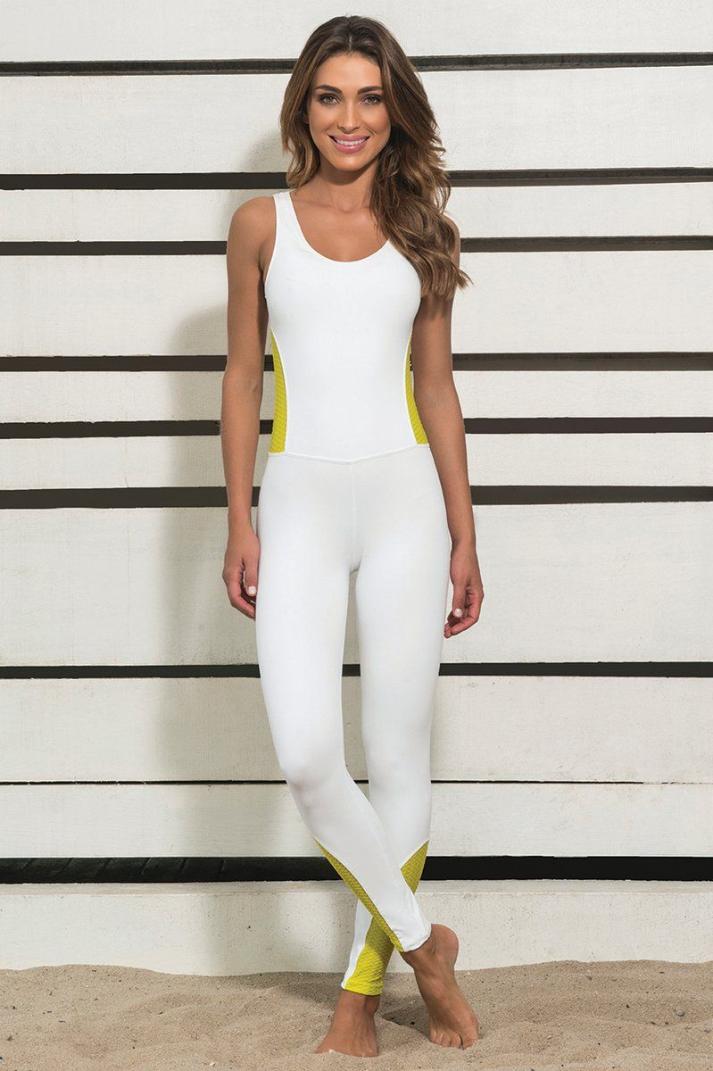 ee38d12cb8 macacao-branco-e-amarelo-ksl-ksl917 Dani Banani Moda Fitness