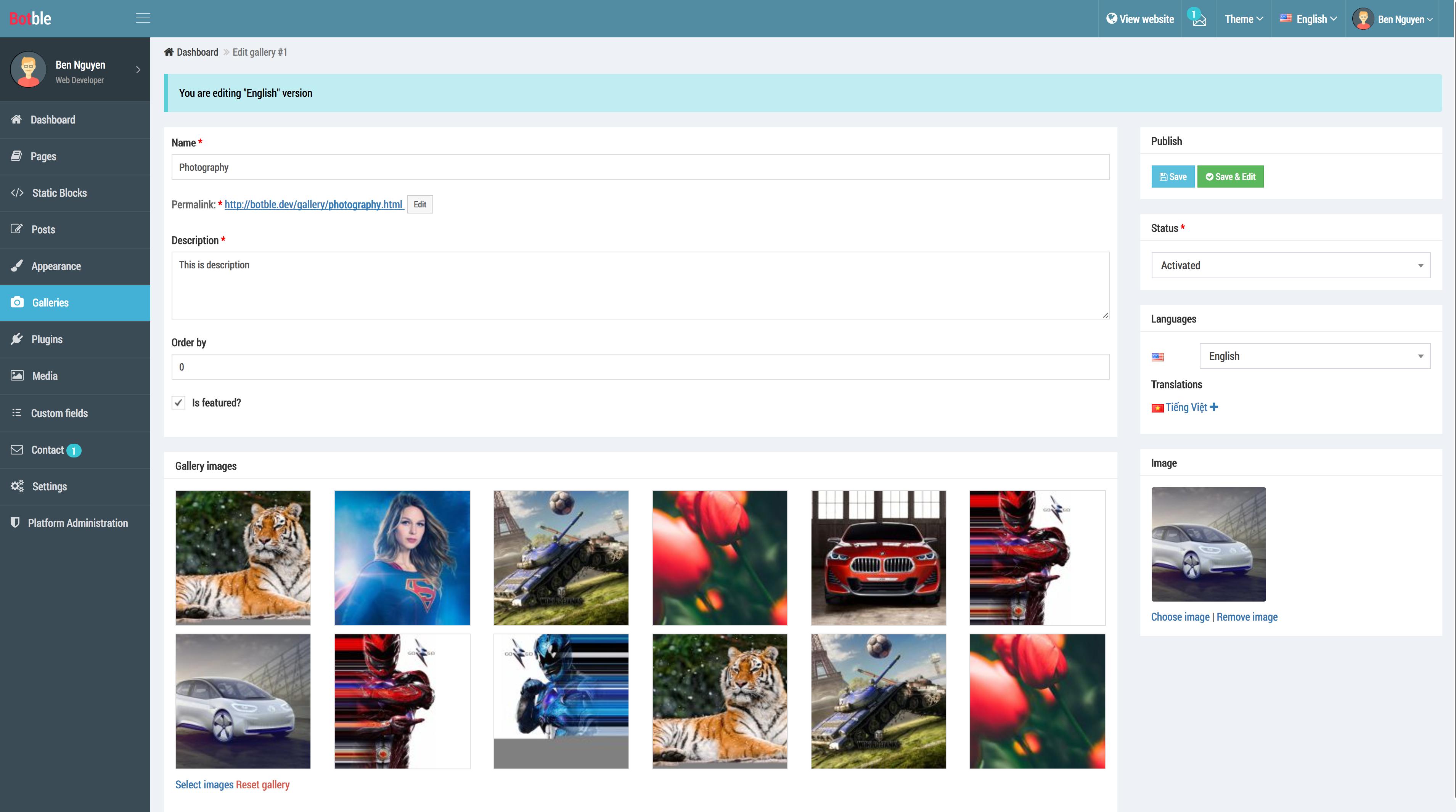 Botble - Laravel CMS, CRUD generator, Modular & Theme system