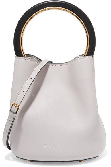 a7775516d096 MARNI Pannier Leather Mini Bucket Bag.  marni  bags  shoulder bags  hand  bags  leather  bucket