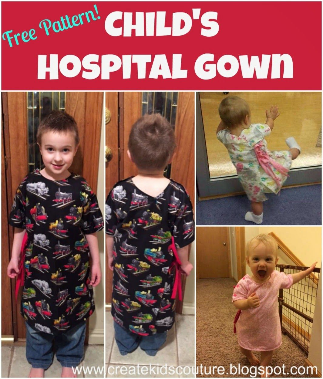 Free Pattern: Child\'s Hospital Gown | FREE Patterns on the CKC Blog ...
