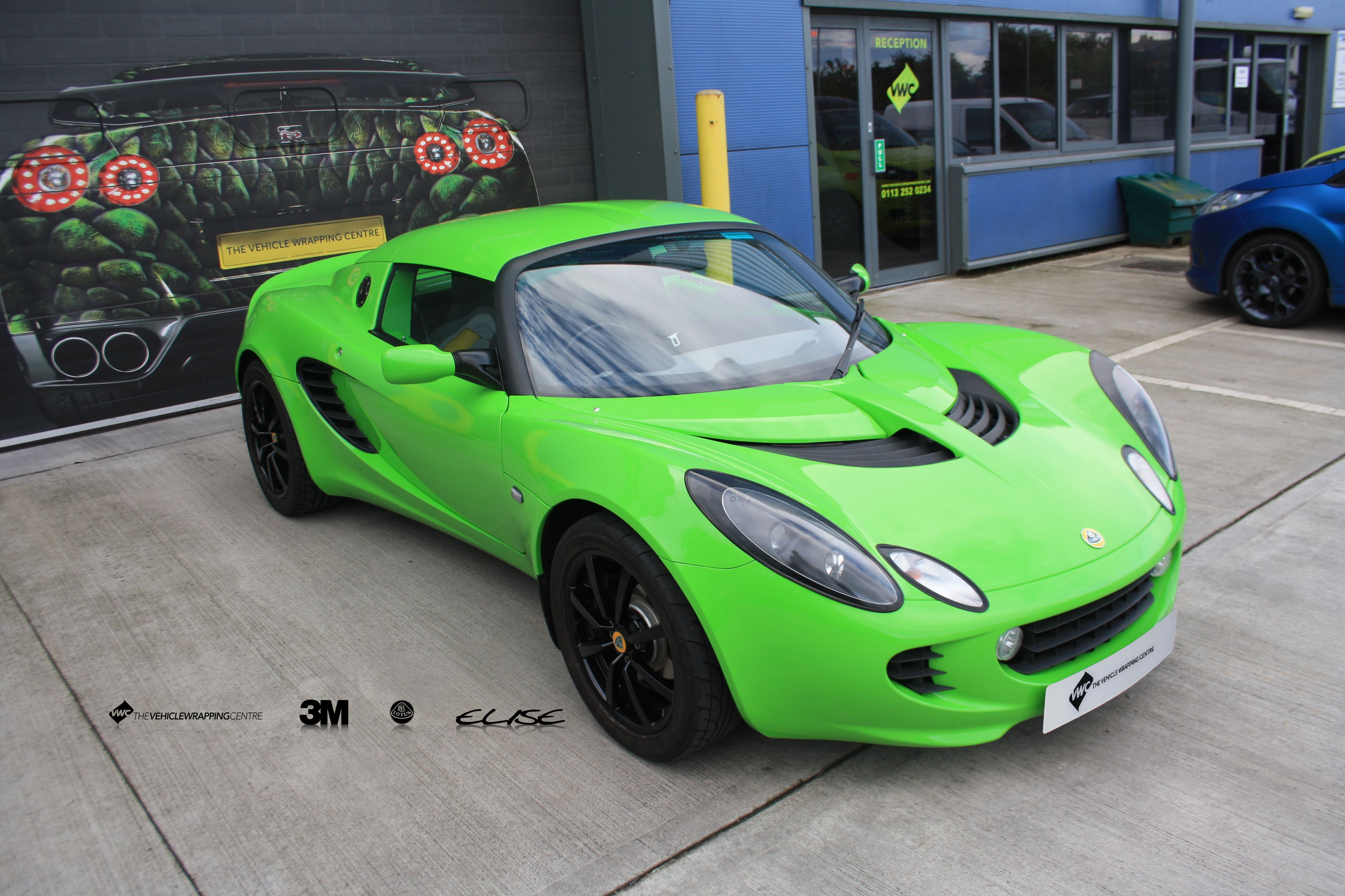 Lotus Elise Avery Grass Green Personal Vehicle Wrap Project