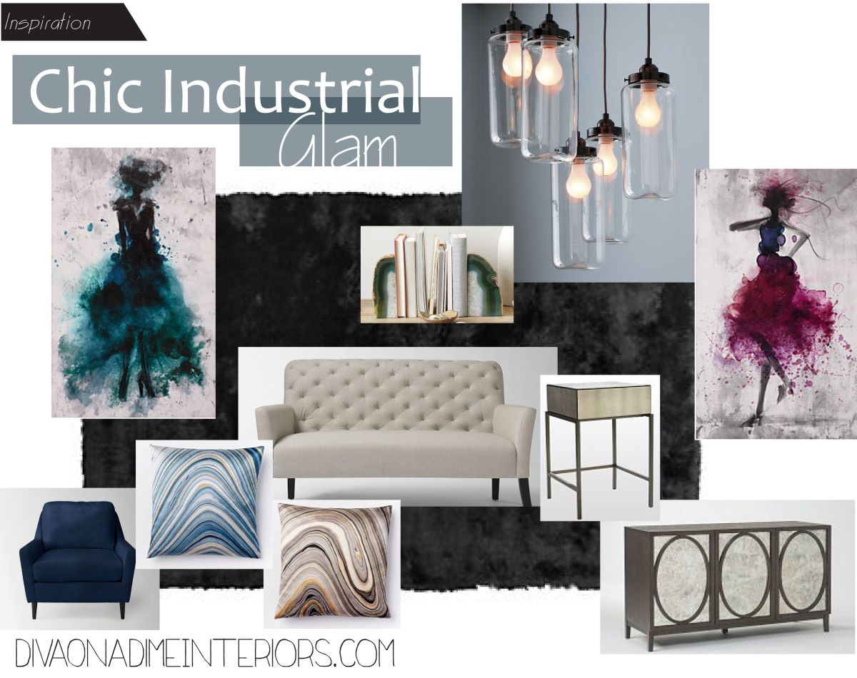 Industrial chic living room - Room Chic Industrial