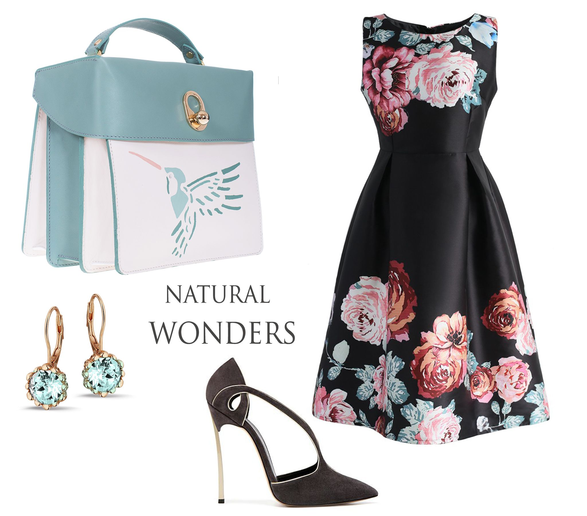 The new Amanda leather bags impress with their delicate manual painting which depicts the beauty of the hummingbird. Mix them with elegant floral dresses and you will definitely glow with femininity.