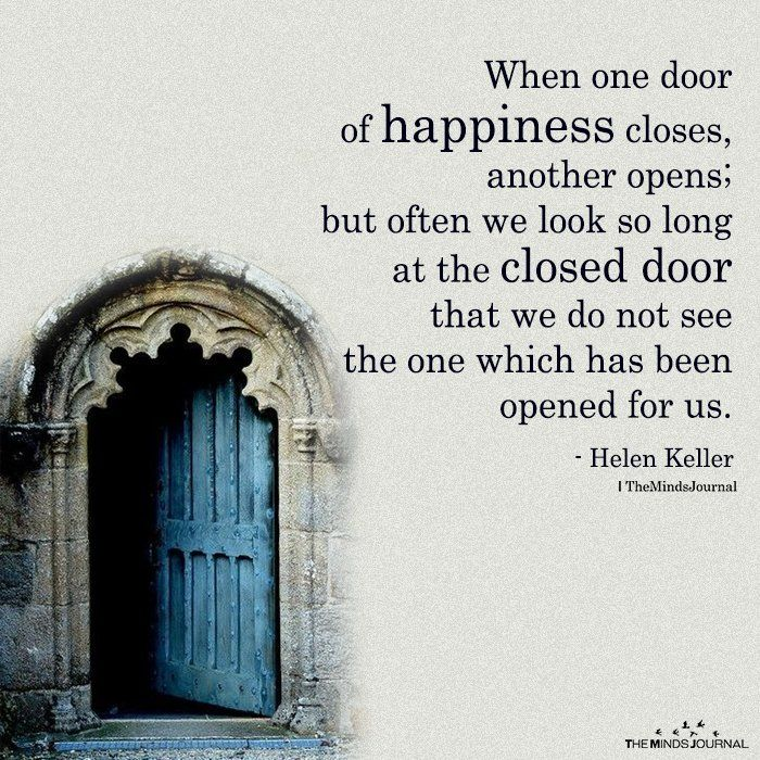 When One Door Of Happiness Closes Another Opens In 2020