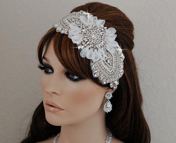 SALE Bridal Headpiece Wedding Crystal Hair by EleganceByKate