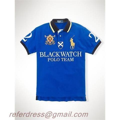 05e9f8c29118 Cheap Polo Ralph Lauren Blue Short Shirts Yellow Markpony Black Collar Black  Watch Team Letters White No.two