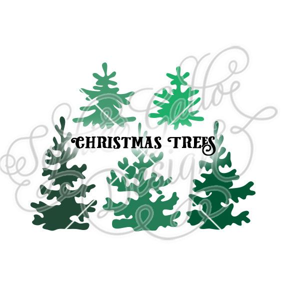Christmas Trees Forest Cut SVG  DXF files WHAT YOU\u0027LL GET ~ 2 files