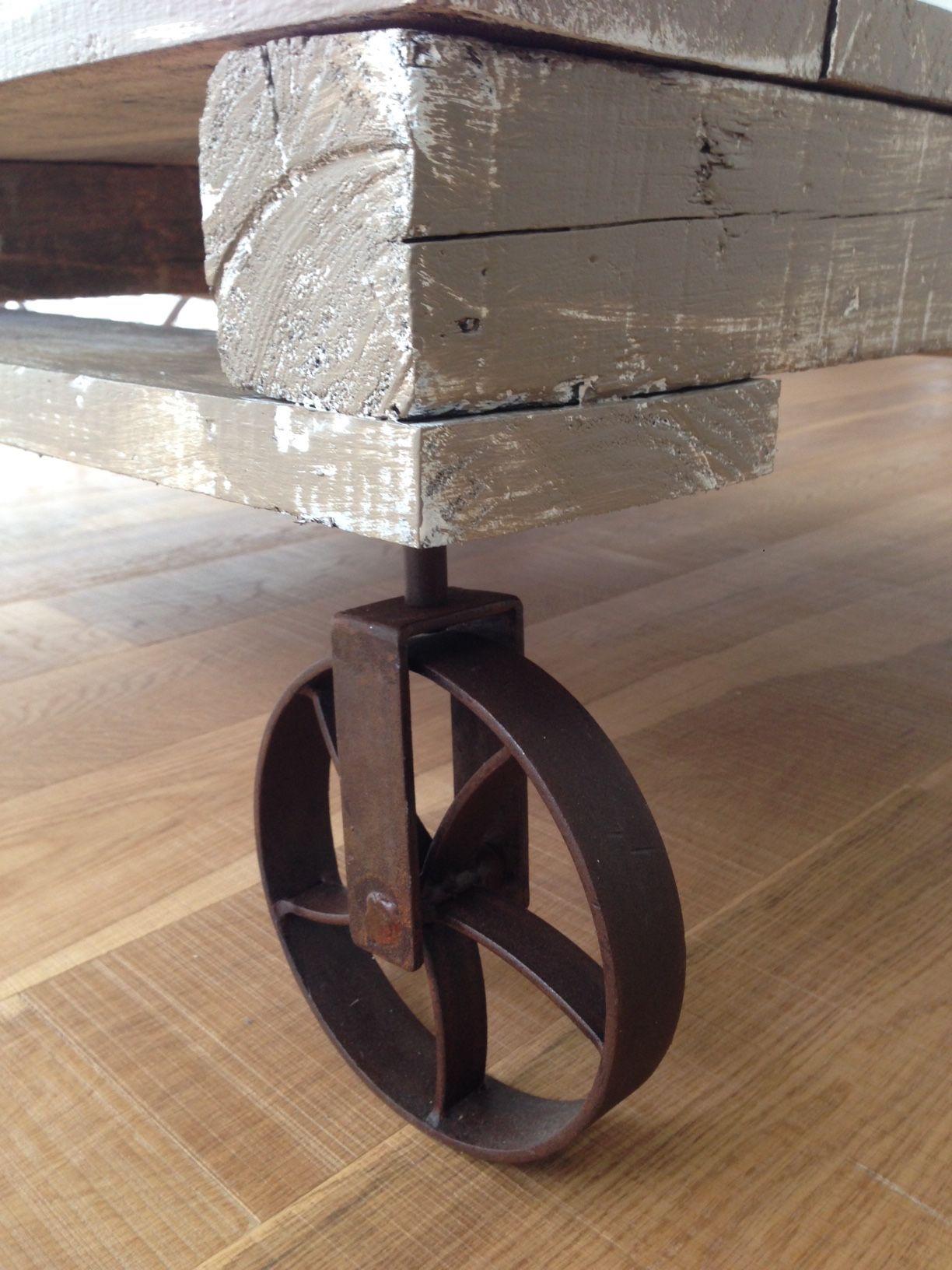 Rueda de hierro muebles antiguos estilo campo - Ruedas para mesa ...