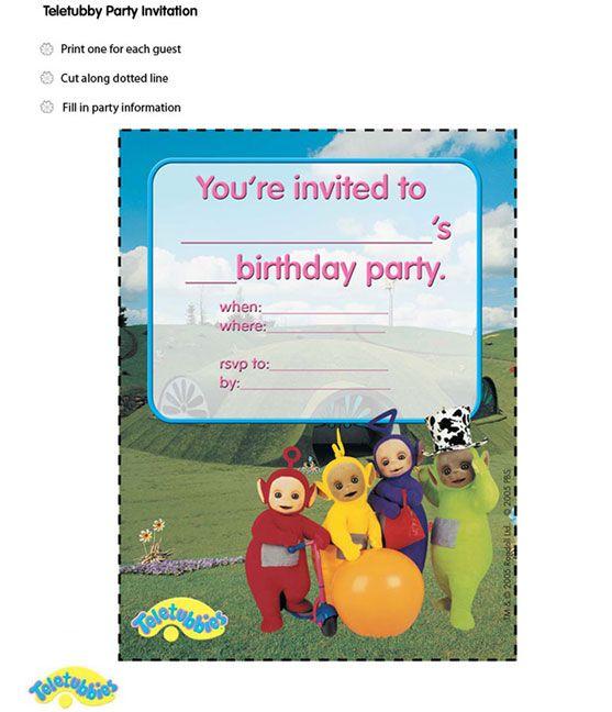 Teletubbies Invitation 1st Birthday Party Invitations