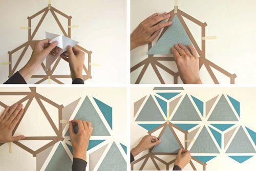 Znak mosaic wall geometric diy wallpaper wall design - Tear off wallpaper by znak ...
