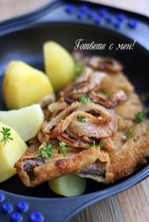 Рамстек с лук   Recipe   Cooking, Recipes