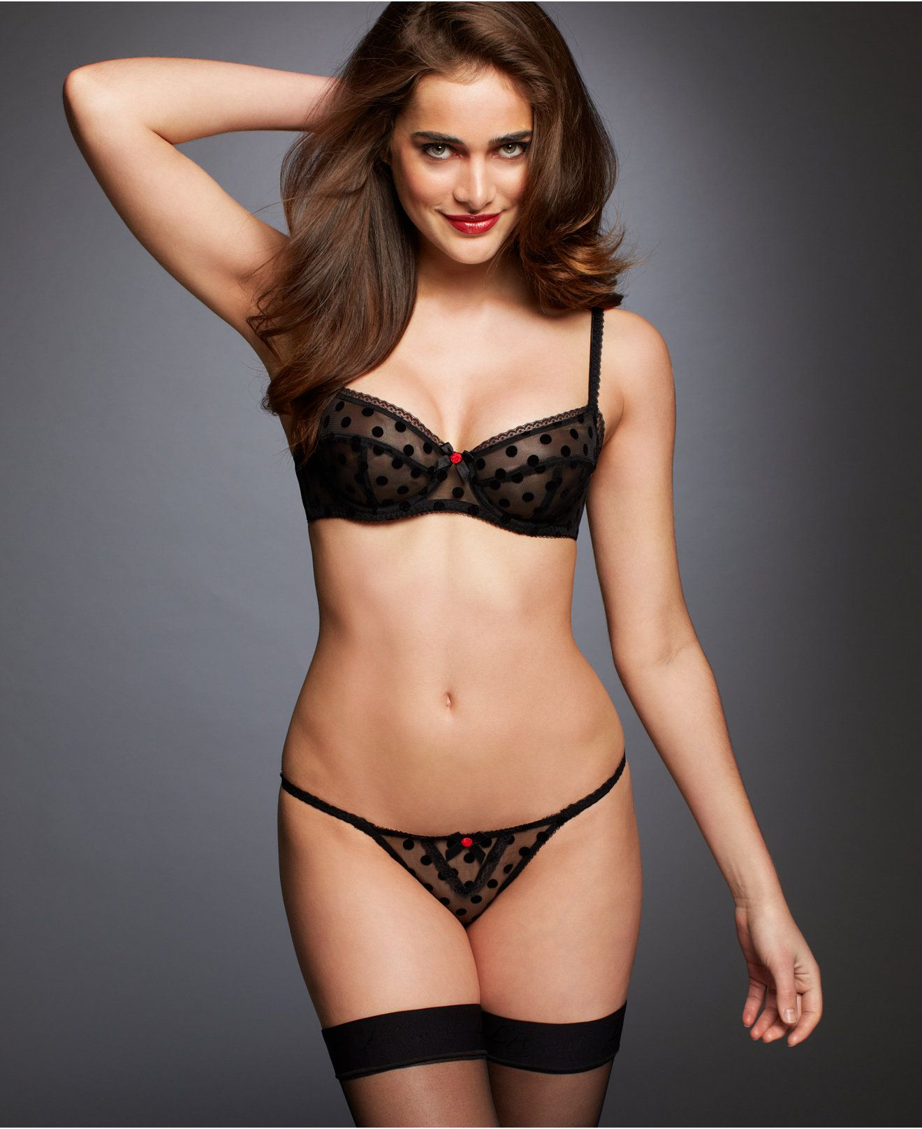 d815f54afd701 L Agent by Agent Provocateur Rosalyn Balcony Bra and Thong - Sexy Lingerie  - Women - Macy s