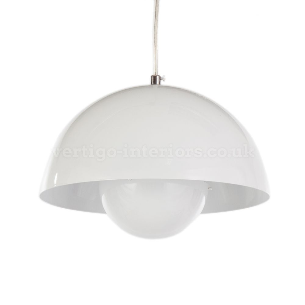 Verner Panton Style Flowerpot Pendant Lamp   White U003e Flowerpot U003e Lighting |  Vertigo Interiors