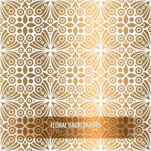 ethnic floral golden pattern free vector like pinterest
