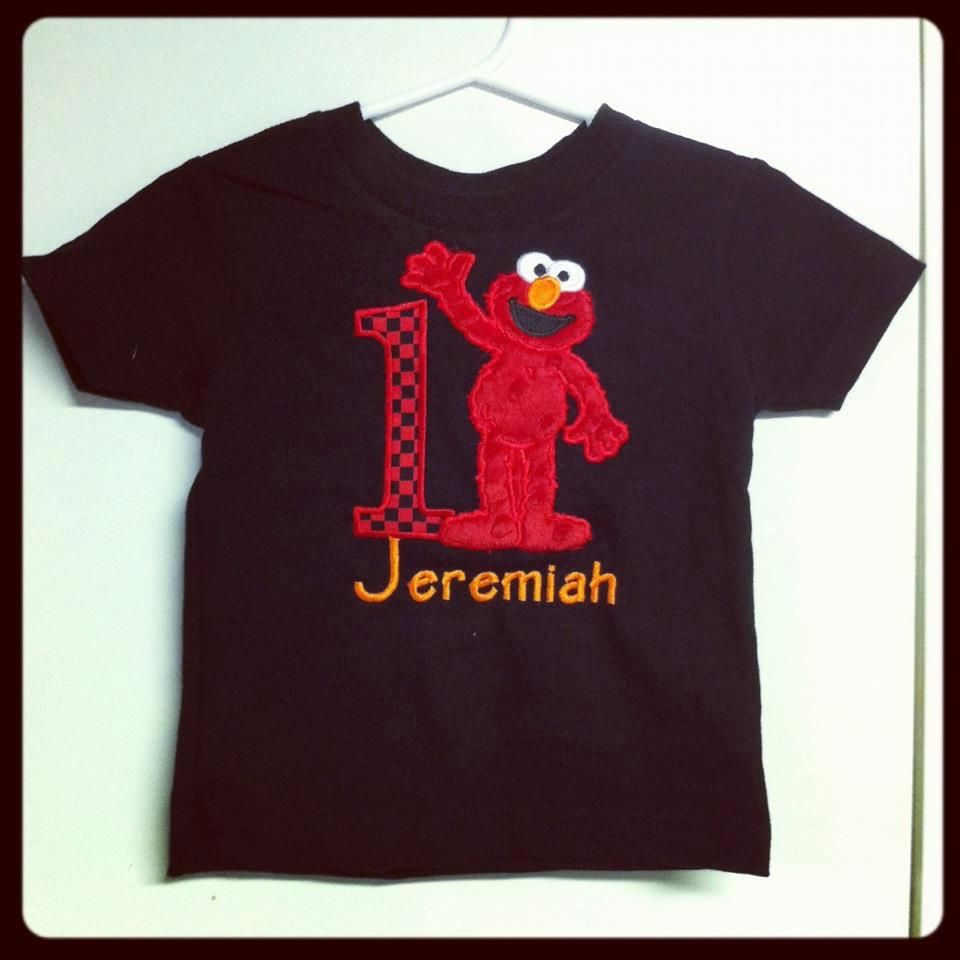 Elmo Birthday Shirts For Toddlers