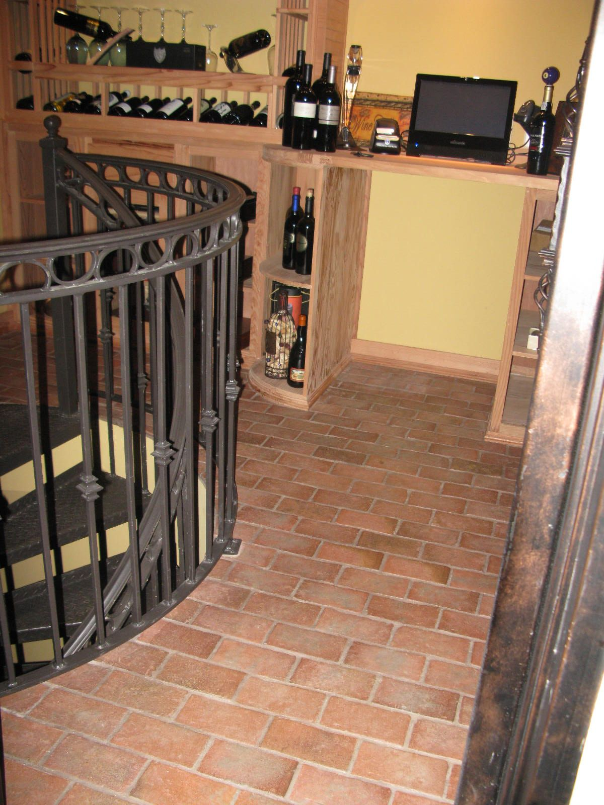 Rutherford brick tile floor in wine cellar providence color mix rutherford brick tile floor in wine cellar providence color mix dailygadgetfo Images