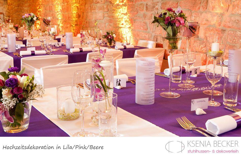 Beere pink lila hochzeitsdekoration tischdekoration mit - Tischdeko orchideen hochzeit ...