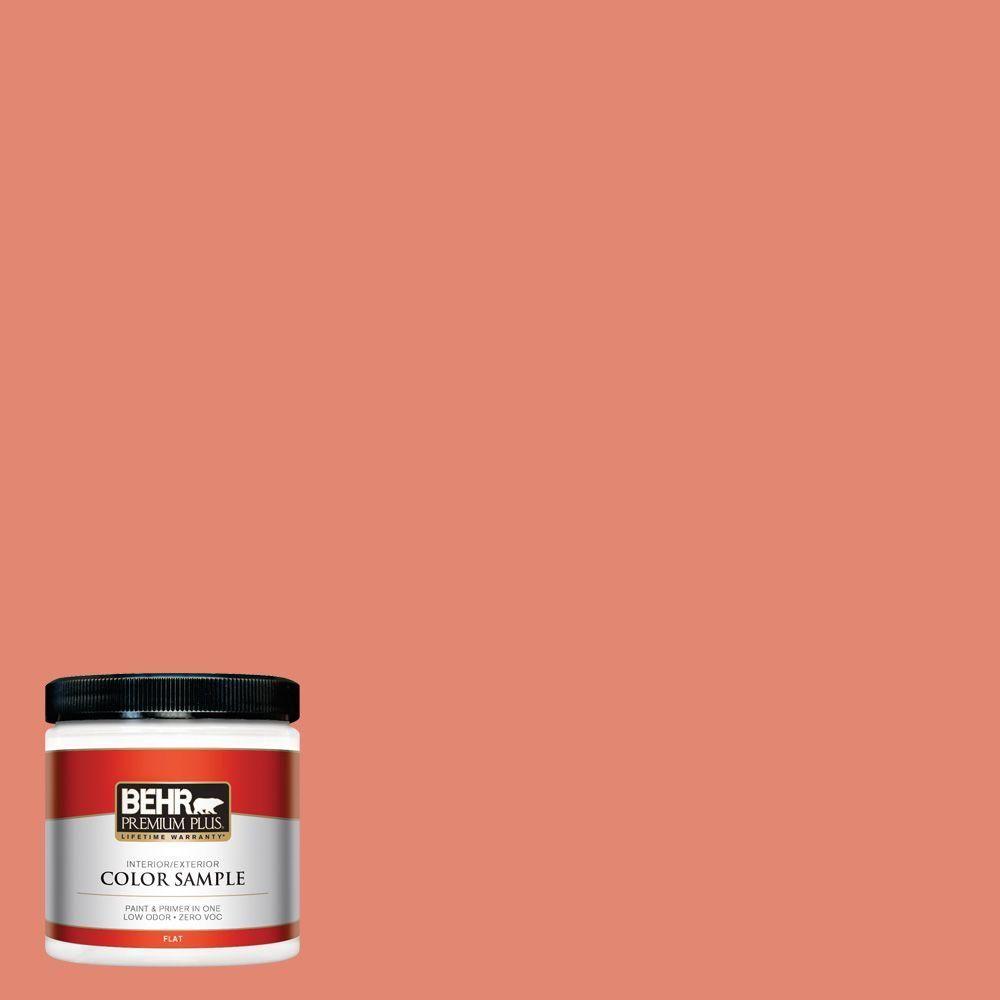 BEHR Premium Plus 8 oz. #200D-5 Guava Jam Interior/Exterior Paint Sample