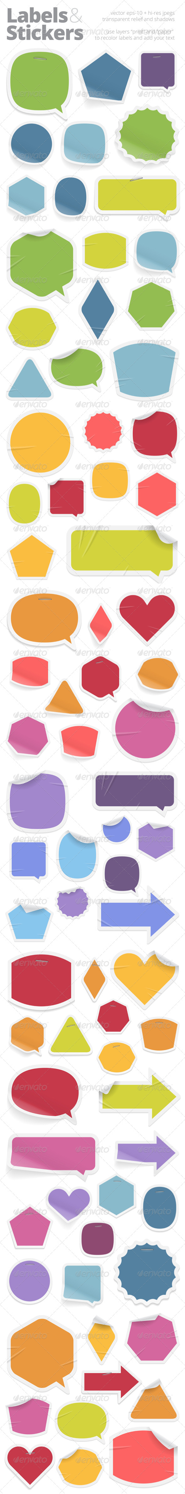 Labels and Stickers Template design, Stickers, Labels