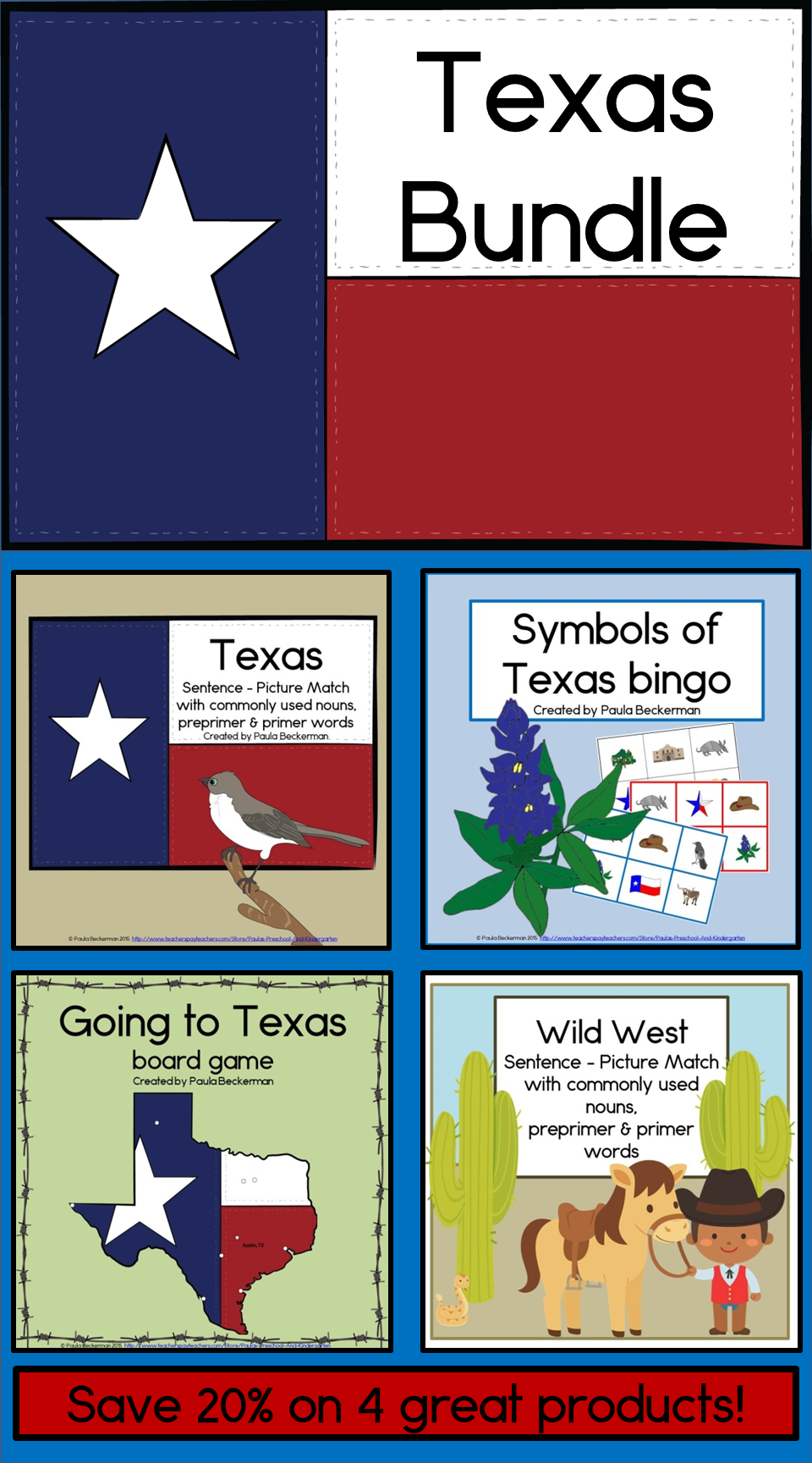 Texas Symbols Bundle Reading Game Board And Bingo Texas Wild