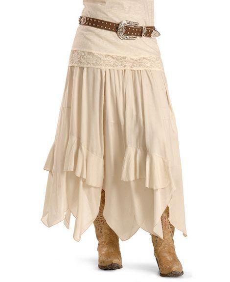 Dance Costume Skirt Cowgirl Indian fringe Wild West Denim look slit miniskirt