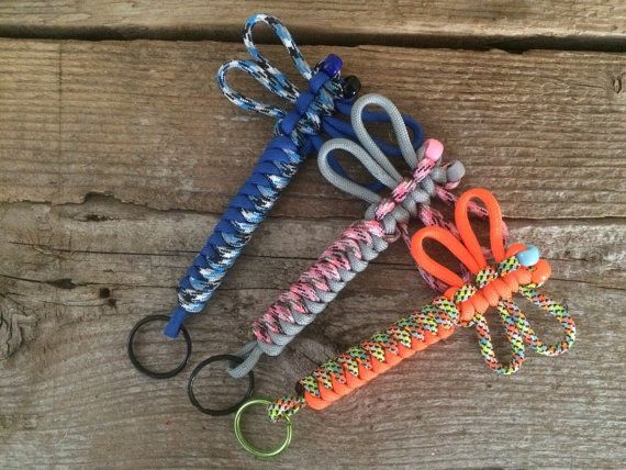 Purple Dragonfly Native American Made Paracord Keychain Paracord Dragonfly Keychain Paracord Dragonfly Key Fob