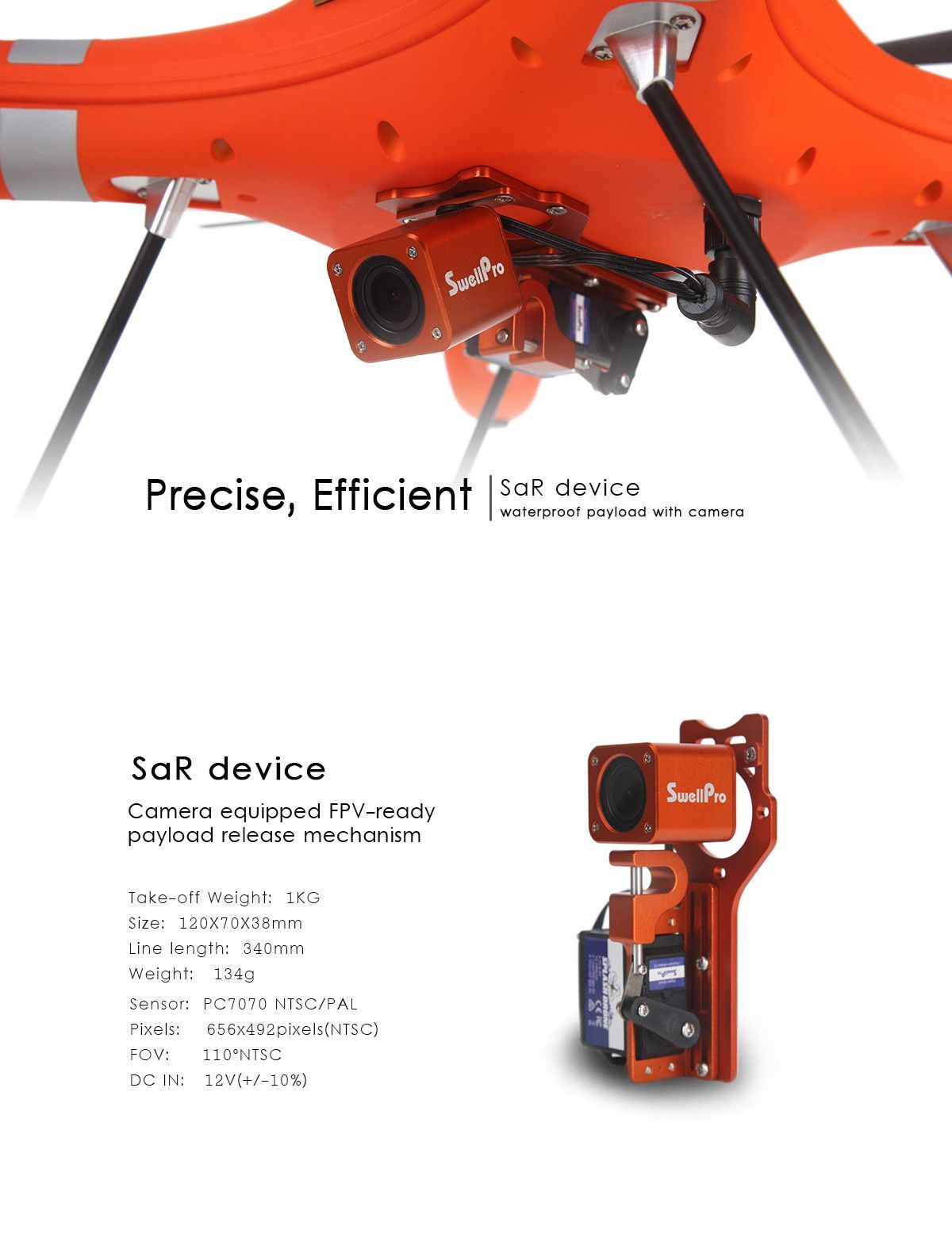 Drone Payload Release Mechanism With Fpv Camera For Splash In Naza Osd Wiring Diagram Search And Rescue Device Sar Equipped Ready Dispenser