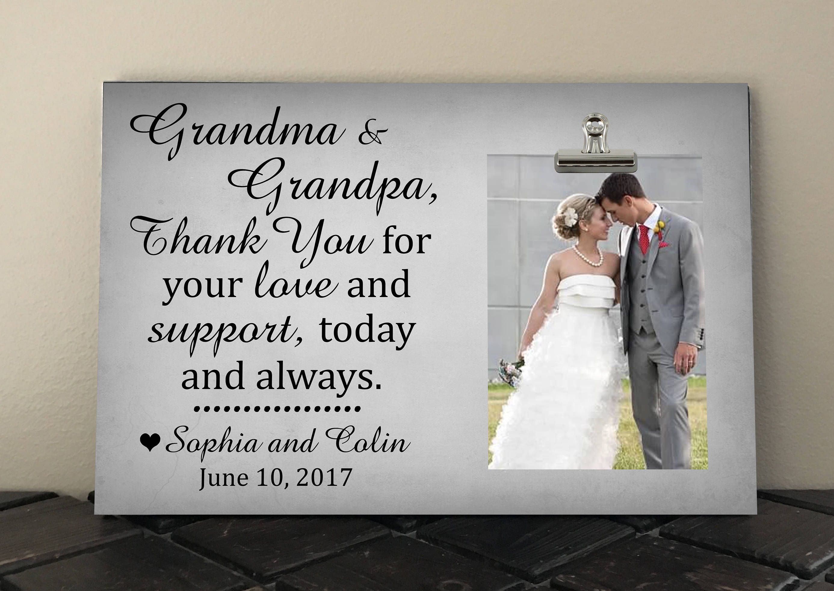 Grandparents Thank You Wedding Gift, Free Design Proof, Personalized Frame,