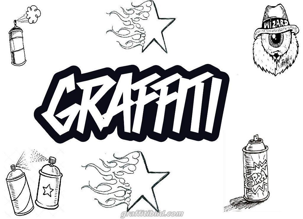 Ausmalbilder Graffiti Graffiti Graffiti Namen Ausmalbilder