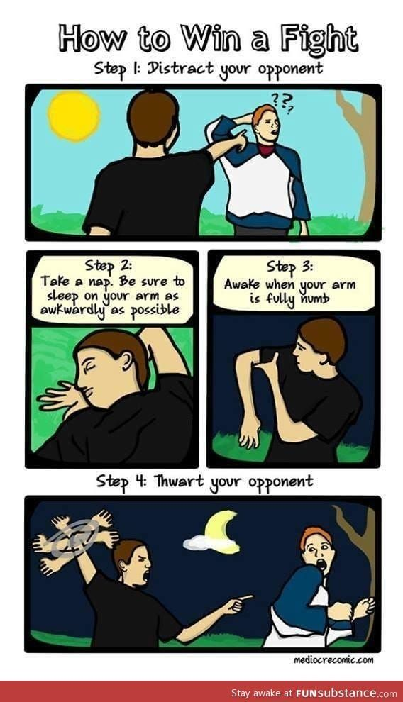 How To Win A Fight Funsubstance Funny Memes Funny Fight