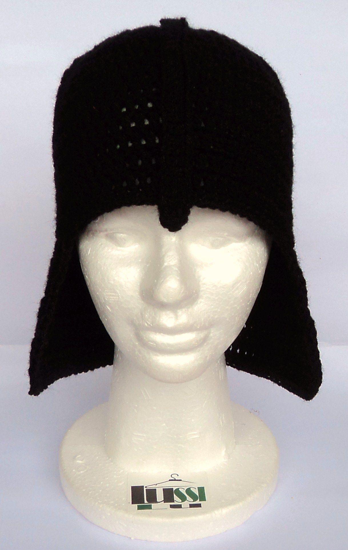 Gorro Tejido En Crochet - Darth Vader - Star Wars - Lussi Lu ...