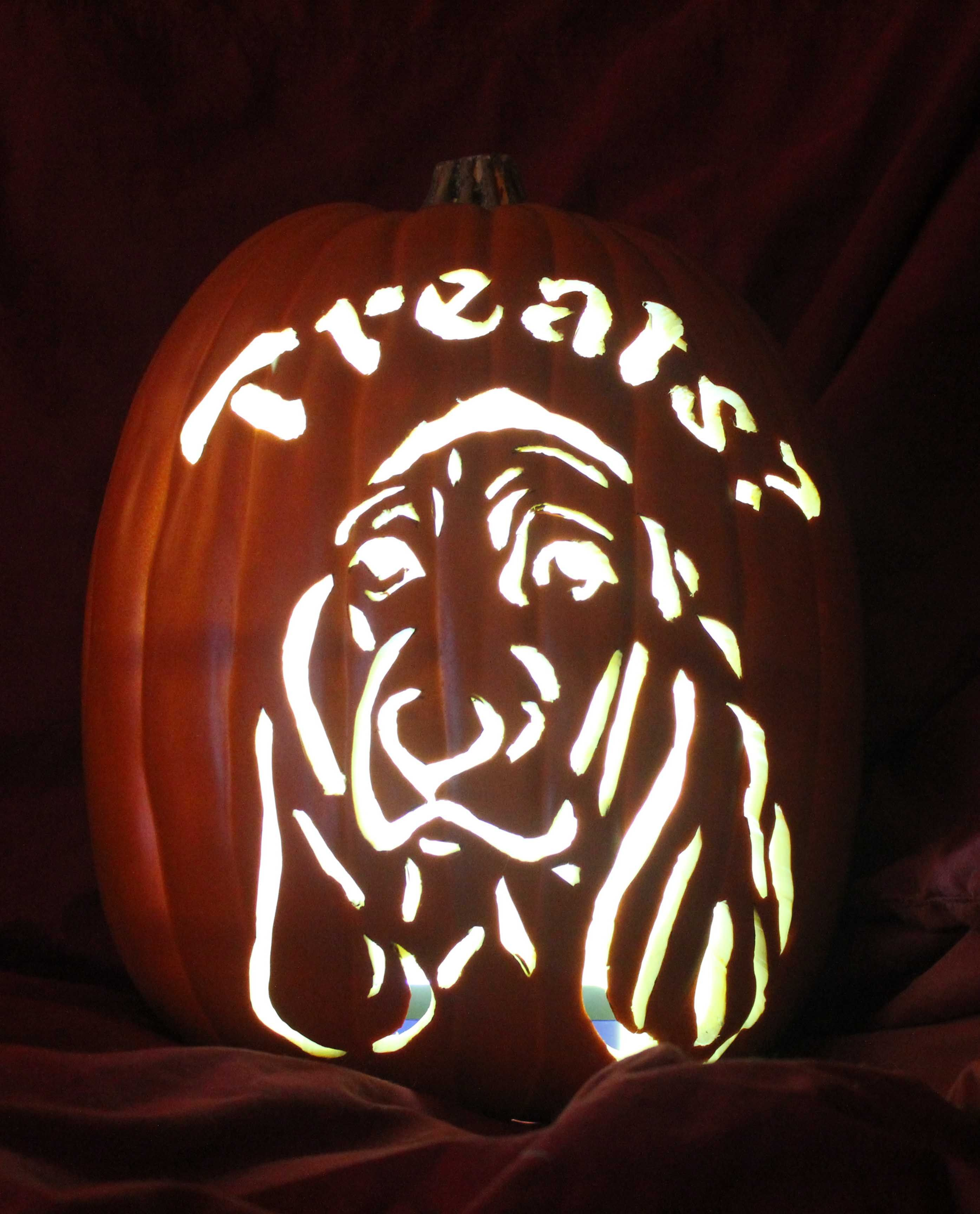 Craft Foam Pumpkin Carved With Basset Hound  Donated To