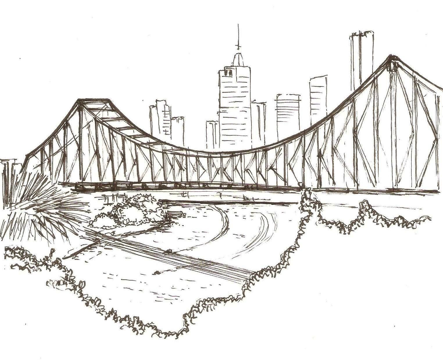 Architectural Drawings Of Bridges story bridge | sketch | pinterest | bridge and sketches