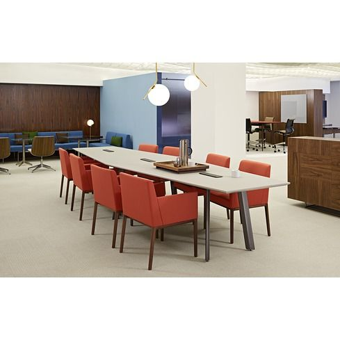 Elsi table and Nessel armchair by Geiger