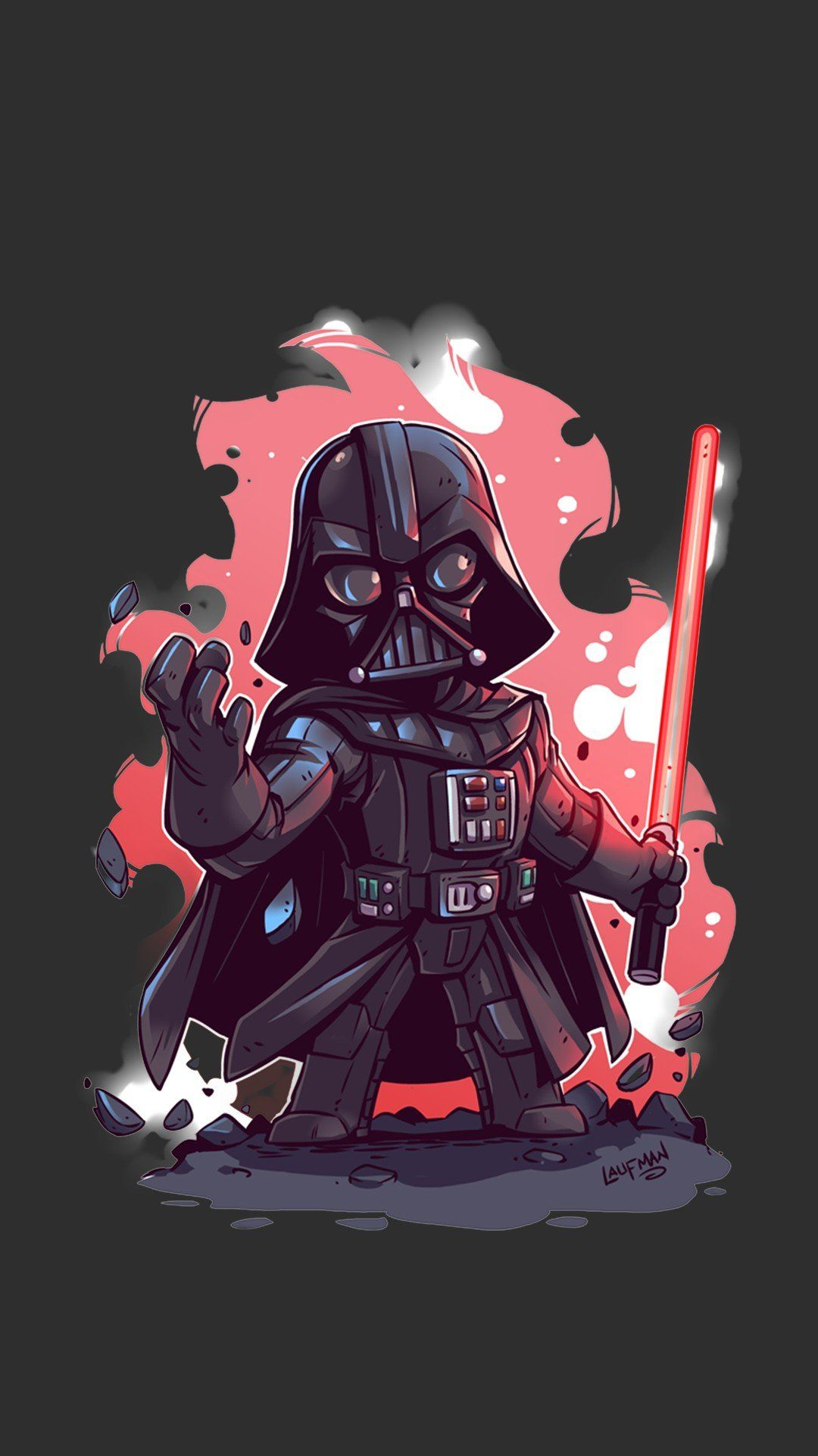 Minimalist Darth Vader Photo In 2020 Star Wars Cartoon Star Wars Wallpaper Star Wars Drawings