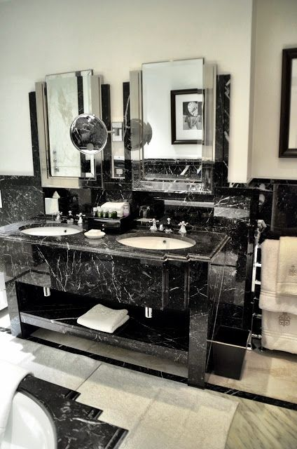Black and white art deco marble