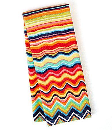 Fiesta Zig Zag Kitchen Towel In 2020 Fiestaware Fiesta Dinnerware Kitchen Towels