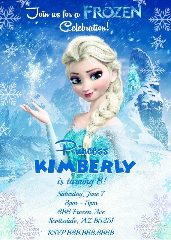 Frozen Invitation - Disney Frozen Invitation - Frozen Invite - Frozen Inspired Printable Invitation - Frozen Invitation Digital - Elsa Olaf on Etsy, $5.88