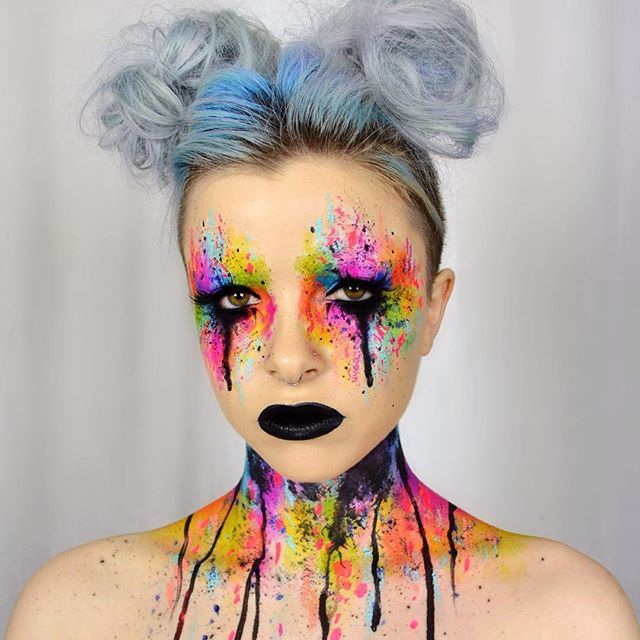 Colour explosion Used #SuvaBeauty cupcakes & monsters palette and Hydra…