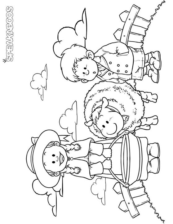 Coloring Pages Baa Baa Black Sheep Speakaboos Worksheets