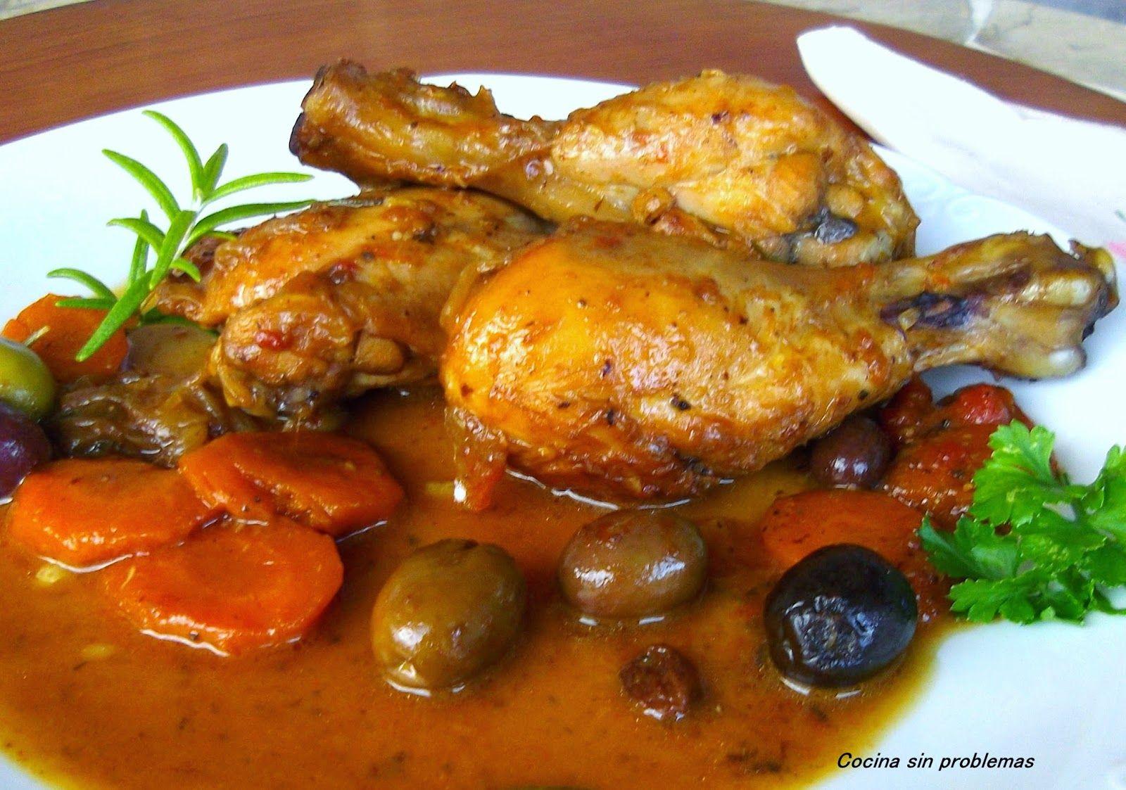 Cocina Sin Problemas Pollo Con Salsa De Hierbas Limón Y Aceitunas Pollo En Salsa Recetas Con Aceitunas Pollo