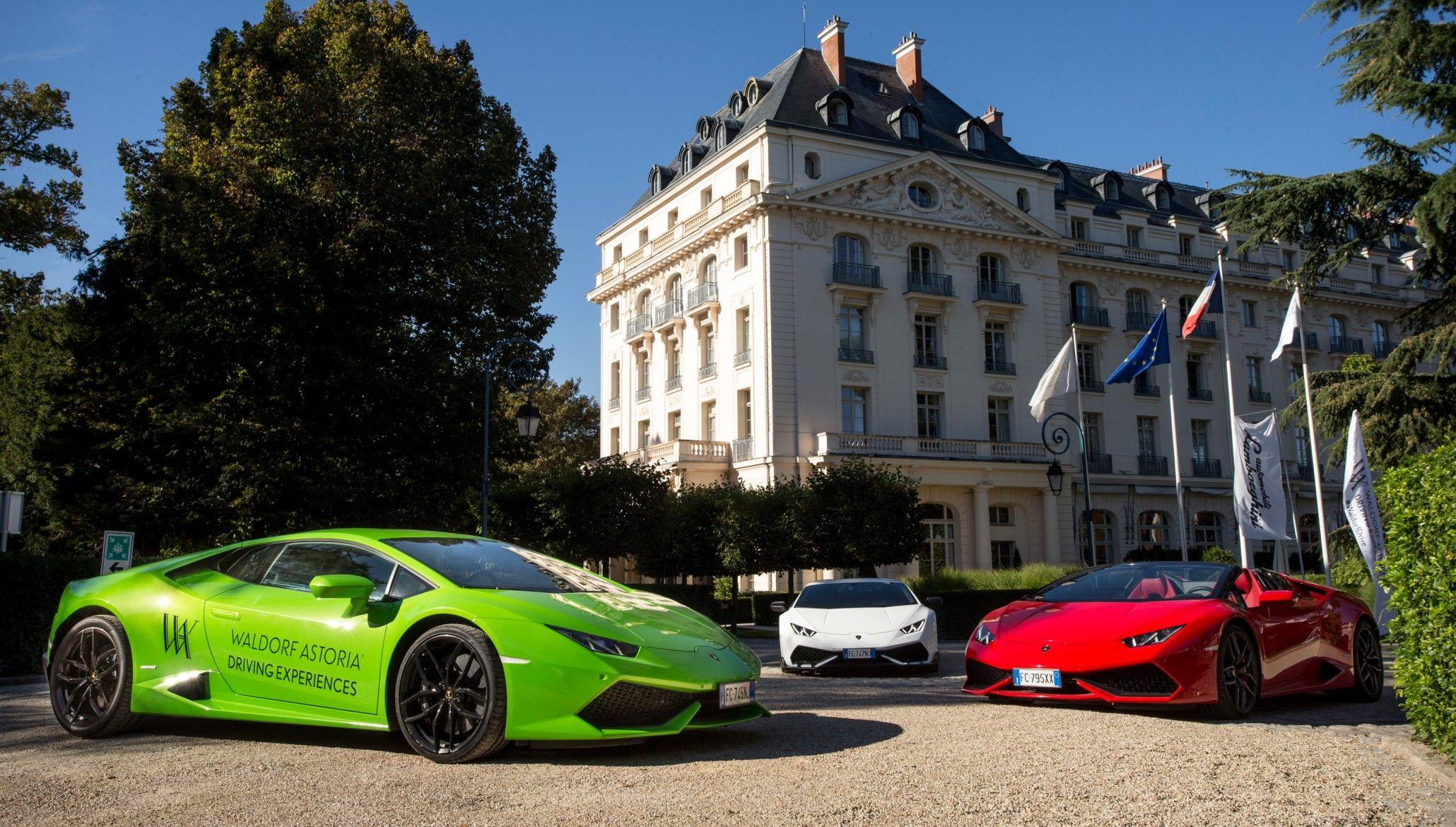 Waldorf Astorias Driving Experiences Deliver The Latest Lamborghinis For 2017 Lamborghini Driving Experience Rear Wheel Drive